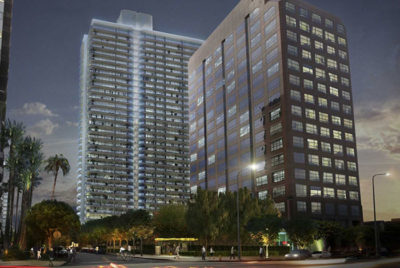 rendering of Landmark Tower from Urbanize