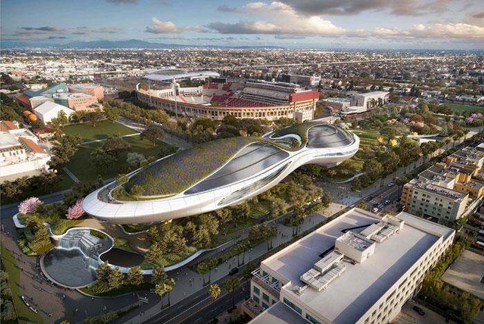 Rendering of Lucas Museum of Narrative Art